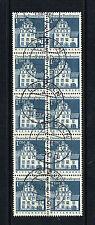 1966 BRD 10er Einheit Mi.Nr. 500 gestempelt