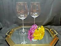 Mikasa High Society Bordeaux Optic Paneled Wine Tall Stemmed Goblets - Set of 2