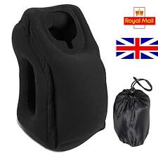 NEW INFLATABLE TRAVEL PILLOW AIR CUSHION HEAD NECK SLEEP SUPPORT CAMPING FLIGHT