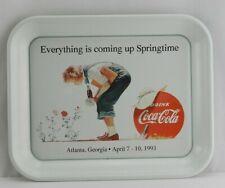 1993 Coca Cola Serving Tray Coke Soda Springtime Vintage Rose Girl White