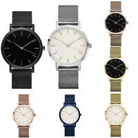 Lovers Quartz Analog Wrist Delicate Metal Mesh Watch Fashion Business Watches