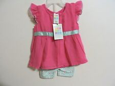 Baby Girl 2 pc dress set Size 3-6 months NWT Healthtex Bubblegum Pink Outfit