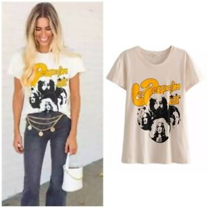 Cream Led Zeppelin Band Group Graphic Tee Womens T-Shirt Casual