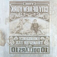 American Bank Note Company: New York Printing Plate