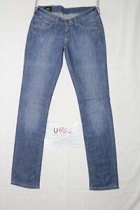 Lee NORMA usato (Cod.U944) W29 L33 denim jeans donna vita bassa dritto grado A