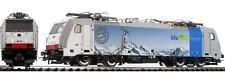 ROCO 73666 186 101 E186 Railpool/BLS Cargo grigio fascia azzurra Quattro Nazioni