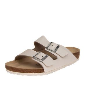 BIRKENSTOCK ARIZONA Leather Sandals EU 43 UK 9 US 10 Engraved Logo Footbed