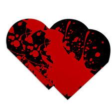 Blood Splatter Classic Horror Movie Hal Heart Faux Leather Bookmark Set