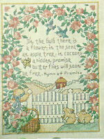Hymn of Promise Sampler Counted Cross Stitch Pattern from magazine Butterflies