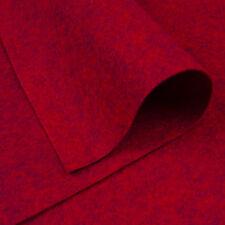 Woolfelt ~ 22cm x 90cm ~ Pick a Shade / wool blend felt fabric red heathered