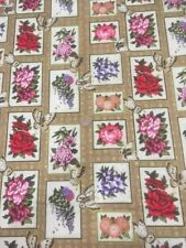 Asian Garden Floral Butterflies Fabri-quilt 100% Cotton Quilting fabric 112-2522