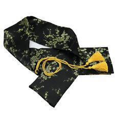 """51"""" Silk Plum Blossom Katana Wakizashi Tanto Japanese Samurai Sword Bag Black"""