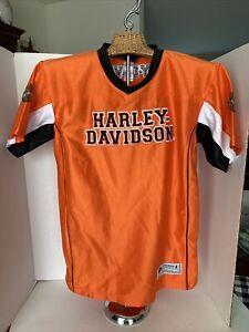 Harley-Davidson Motorcycle Boys Youth Embroidered 1 Bike Pass Short Sleeve Shirt