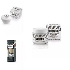 Proraso Green Tea & OatMeal Shaving Kit_Brush+Soap+Pre Shave Cream/SAME DAY POST