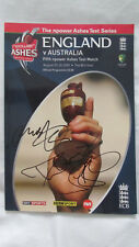 Signed Ashes 2009 Final Test Programme by Anderson Broad Harmison w/ Proof
