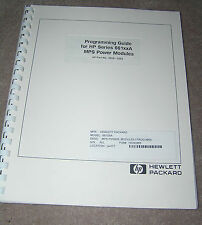 HP Manual 5959-3362 Model 661xxA MPS Power Module/ Programming Guide
