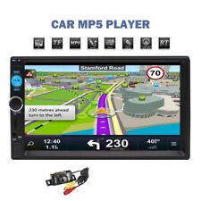 "7"" Doppel Din Autoradio Touchscreen GPS Navi RDS Bluetooth Mit Rückfahrkamera FM"