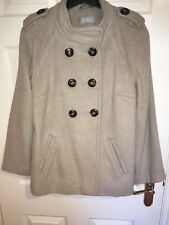 WALLIS Beige/Nude Double Breasted Wool Blend Cape Coat Size S