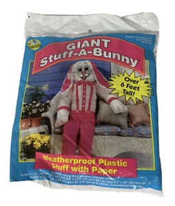 NEW Sunhill Giant Stuff A Easter Bunny Over 6 Feet Tall Weather Proof Plastic