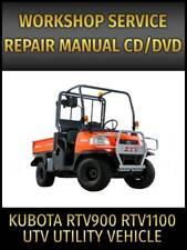Kubota Rtv900 Rtv1100 Utility Vehicle Utv Service Repair Manual On Cd