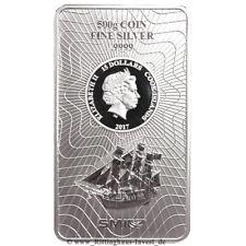 Lingot d'argent de pièces d'argent 500 g Cook îles Bounty 2017 es Design 500