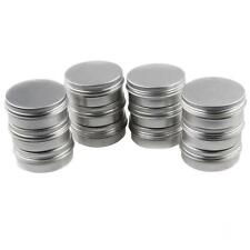12x Makeup Lip Balm Powder Containers Metal Round Tin Cans Empty Bottle Pot