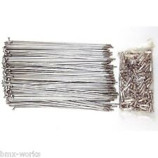 Stainless Steel Bicycle Spokes & 16mm Chrome Nipples - Packs of 72