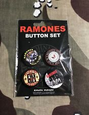 "Ramones 1"" Button Set Sex Pistols Dead Boys Black Flag Motorhead"