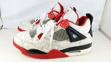 "AIR JORDAN 4 RETRO ""LASER"" 308497-161 2005 MEN'S SZ 8.5 WHITE/VARSITY RED/BLACK"