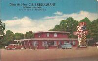 Claxton, GEORGIA -  C & J Restaurant - ROADSIDE ARCHITECTURE - old cars