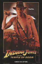 INDIANA JONES ~ TEMPLE OF DOOM ADVANCE 27x40 MOVIE POSTER Harrison Ford Teaser