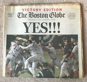 The Boston Globe, Red Sox, 2004 World Series, 'Victory Edition' YES!! Newspaper.