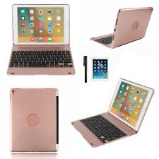 "Aluminum Wireless Bluetooth Keyboard Folios Case Cover For 9.7"" iPad Pro Air 2"