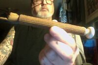 Wood & Porcelain Torah pointer-real WW2 era from Ukraine/Poland Judaica-Read