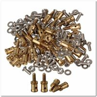 40x Model Airplane Servo Horn Linkage Connector for 1mm Steel Wire Golden