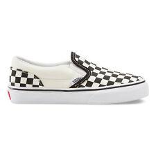 0d75452e9a3f00 VANS KIDS Classic Slip-On (Checkerboard) Black White Size 11-4
