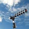 Outdoor HDTV Antenna Rotating Motorized Amplified High Gain UHF VHF FM 150 Miles