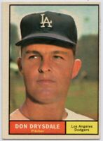 1961 Topps #260 Don Drysdale Near Mint Pack Fresh Los Angeles Dodgers FREE S/H