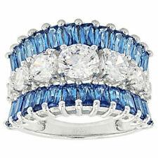 Elegant Women 925 Silver Wedding Rings Jewelry White Sapphire Rings Size 6-10