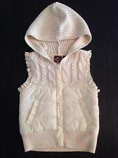 Creme Puffed Girls Sleevless Hoody Jacket/Vest 4 NWOT