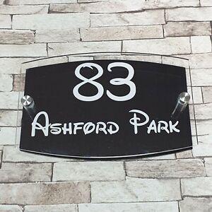 Cheap Disney Black Modern House Sign - Door Number - Address Sign -Number Plaque