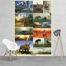 Children's bedroom wallpaper wall mural Dinosaurs collage Discavery dinosaur