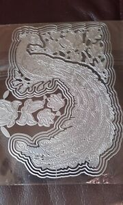 Metal Cutting Dies, Peacock -works with carnation crafts - Peacock / Flower