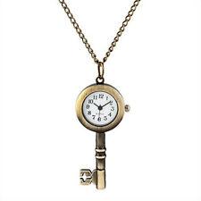 Watch Antique Key Style Pocket Watch Bronze Necklace Jewlery Cute Star Locket