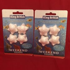 2 x Vacation Weekend Holiday Fish Food Blocks For Tropical Or Coldwater 3-4 Days