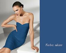 Wolford Fatal dress XS blue Allure stretch strapless BODYCON top skirt tube NEW