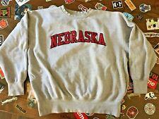 vtg University of Nebraska Huskers Majestic Embroidered Crew Sweatshirt SZ 2XL