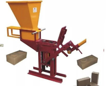Ecological clay Brick Making Machine PLANS build your own DIY