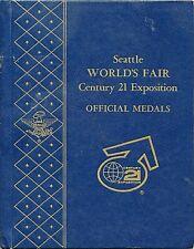 Seattle World's Fair Century 21 Exposition - Official SILVER Medals - EC 3B