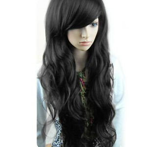 Sexy Women Fashion Wavy Long Straight Curly Hair Full Wigs Cosplay Party Wig AU